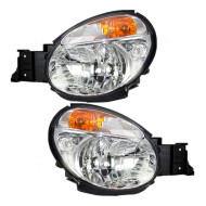 Picture of 02-03 Subaru Impreza New Pair Set Headlight Headlamp Lens Housing Assembly DOT