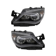 Picture of 08-11 Subaru Impreza & WRX New Pair Set Halogen Headlight Headlamp Lens with Black Bezel DOT