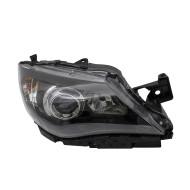 Picture of 08-11 Subaru Impreza & WRX New Passengers Halogen Headlight Headlamp Lens Black Bezel DOT