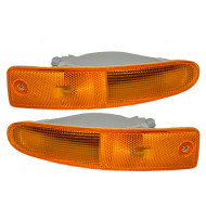 Picture of 00-02 Mitsubishi Eclipse New Pair Set Signal Front Marker Light Lamp Lens Husing Assembly DOT