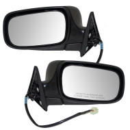 Picture of 04-08 Subaru Forester SUV New Pair Set Power Side View Mirror Glass Housing Assembly
