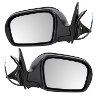 Picture of 08-13 Subaru Impreza New Pair Set Power Side View Mirror Glass Housing Textured Assembly