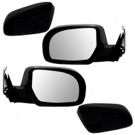 Picture of 11-13 Subaru Legacy Outback New Pair Set Power Side View Mirror Glass Housing Heated with Smooth & Textured Covers
