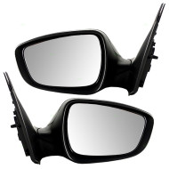 Picture of 12-15 Hyundai Accent New Pair Set Power Side View Mirror Glass Housing Textured Assembly