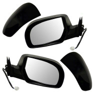 Picture of 11-14 Subaru Legacy Outback New Pair Set Power Side View Mirror Glass Housing with Smooth & Textured Covers