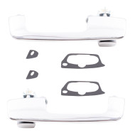Picture of 78-93 Dodge Pickup New Pair Set Exterior Front Chrome Door Handle Aftermarket Replacement
