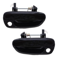 Picture of 00-05 Hyundai Accent New Pair Set Outside Exterior Front Door Handle Paint-to-Match with Keyhole Assembly