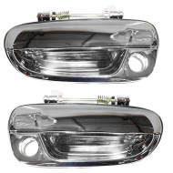 Picture of 00-05 Hyundai Accent New Pair Set Outside Exterior Front Chrome Specialty Door Handle with Keyhole Assembly