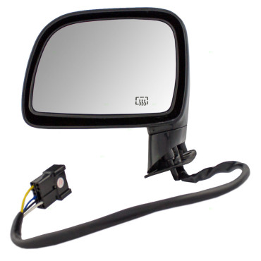Picture of 95-97 Lincoln Town Car New Drivers Power Side View Mirror Glass Housing Heat Heated