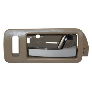 05 14 Ford Mustang Passengers Front Inside Chrome Door Handle W Beige Bezel
