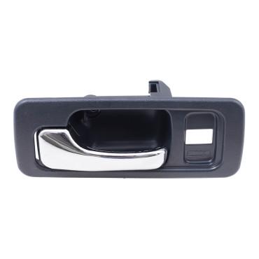 90 93 honda accord sedan drivers front inside blue chrome power door handle w lock hole for 1993 honda civic interior door handle