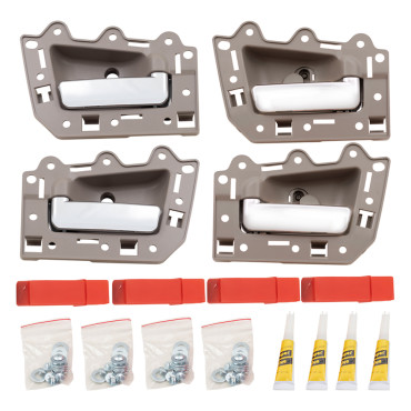 05 10 jeep grand cherokee new 4 piece set inside front rear beige with chrome 2005 jeep grand cherokee interior door handle replacement