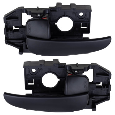 01 06 Hyundai Elantra Set Of Front Inside Black Door Handles