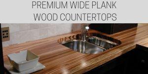 zebrawood countertops, wide plank wood countertop, custom wood countertops, wood countertops, marine finish