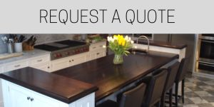 classic white kitchen, quote request wood countertop, wood countertop quote