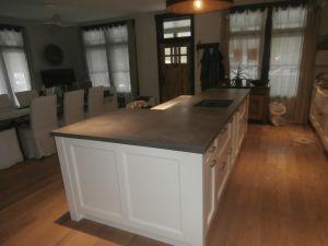 Charcoal Concrete Countertops, Dark Concrete Countertops, Kitchen Island  Countertop, Raised Bar Island,