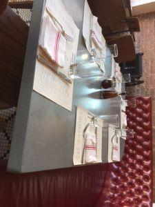 concrete restaurant table, commercial concrete tables, custom concrete table tops, concrete care and maintenance, protecting concrete