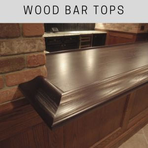 wide plank wood bar top, custom wood bar tops, walnut bar top, chicago bar rail