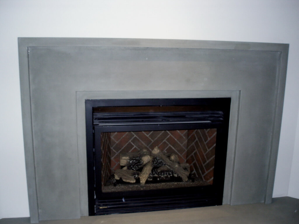 Custom Concrete Fireplace Surround