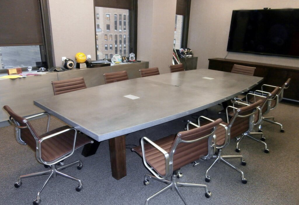 Engineered Concrete Conference Table