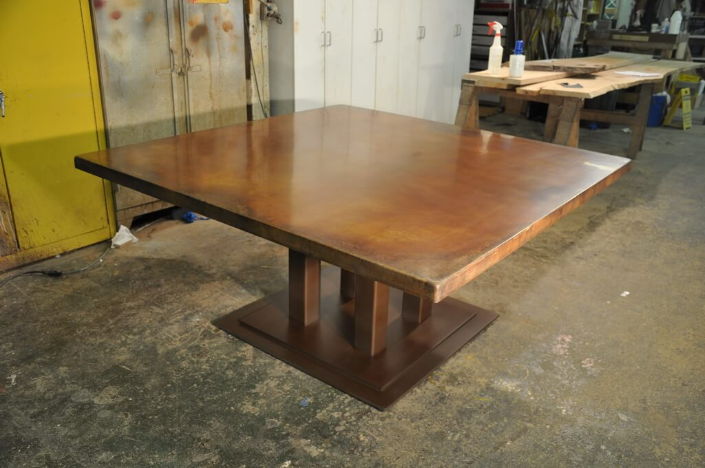 Stained Concrete Table Top Brooks Custom - Stained concrete table