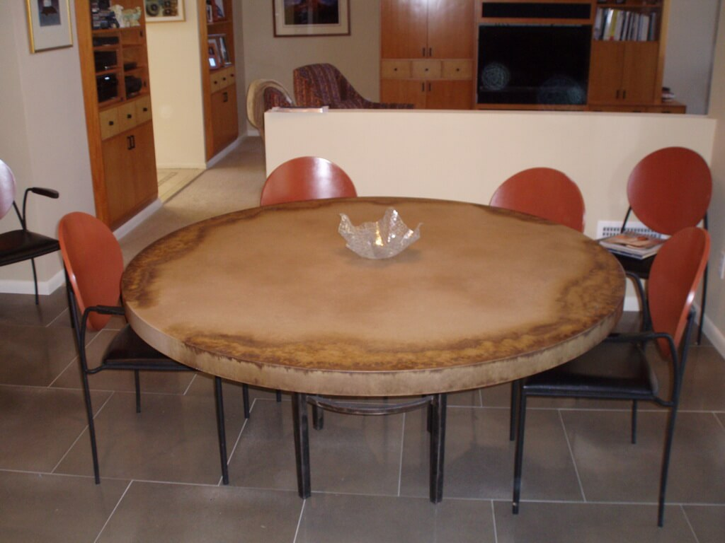 Round Concrete Breakfast Table