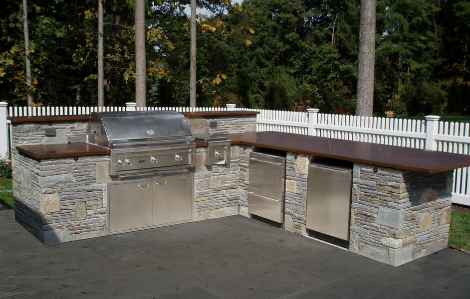 Brown Exterior Concrete Countertops