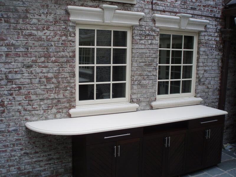 White Exterior Concrete Bartop