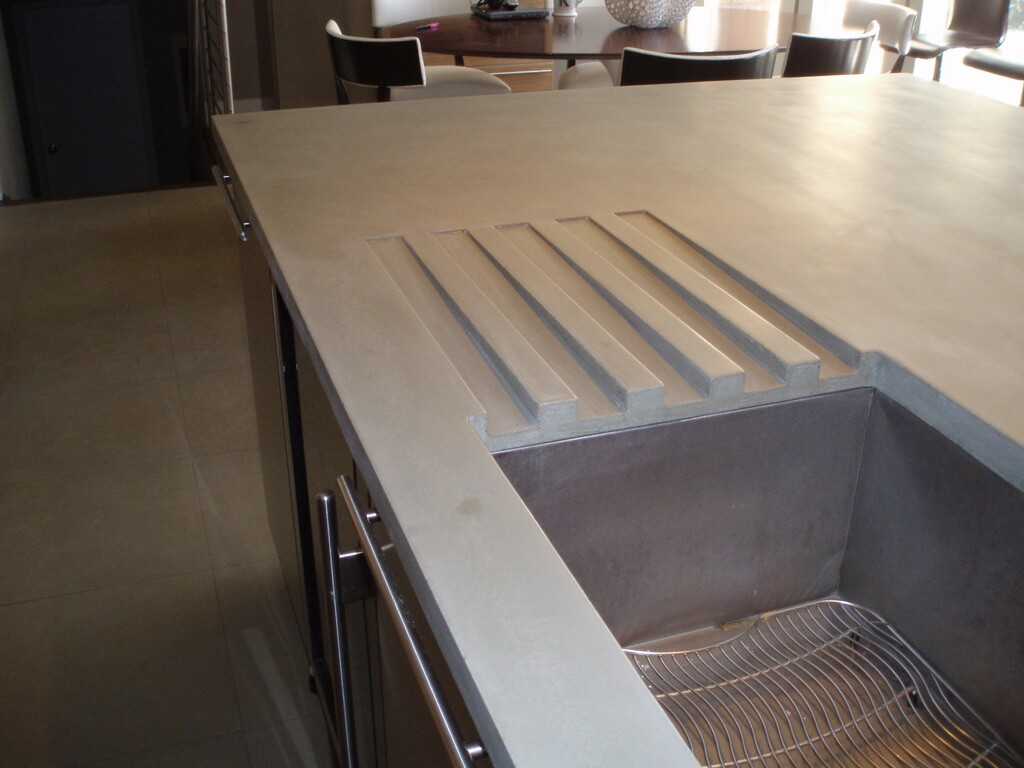 Drain Pan in Concrete Countertop