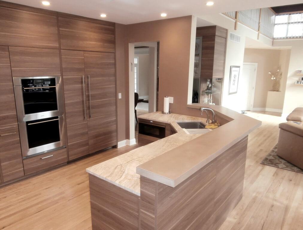 kitchen island with raised breakfast bar. concrete bar top kitchen island raised countertop breakfast  custom with