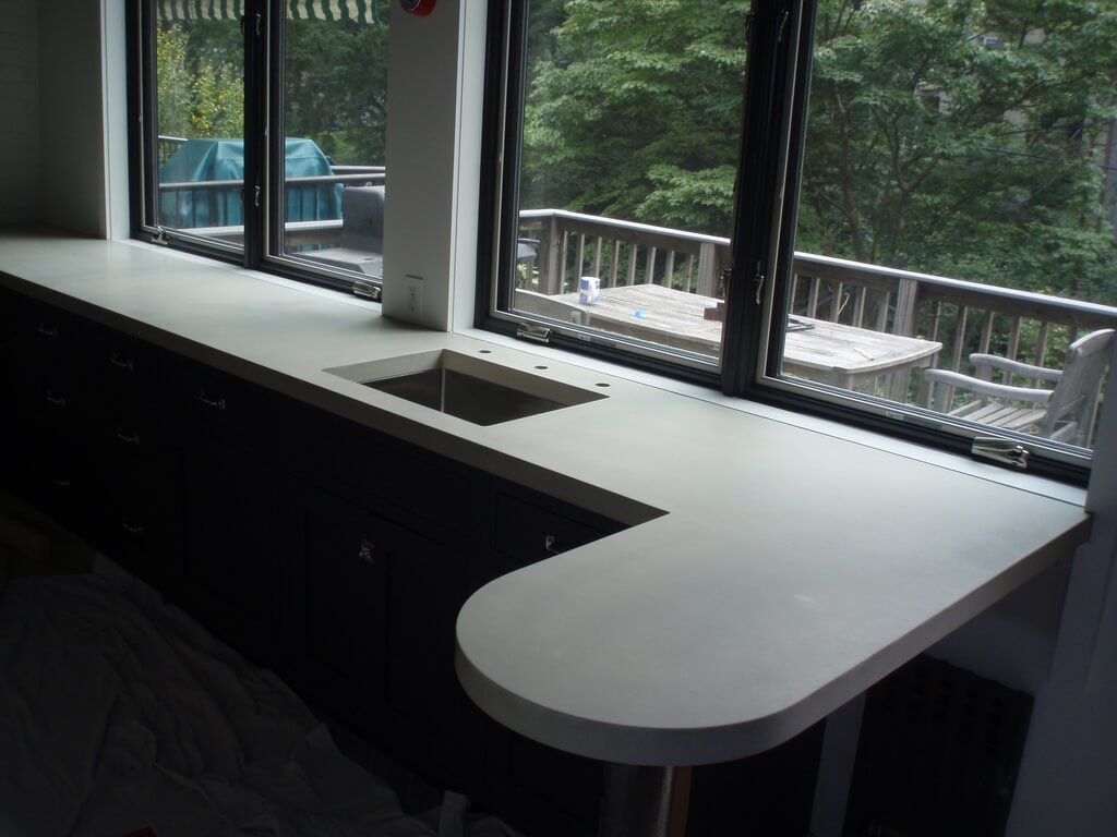 Custom White Concrete Countertop
