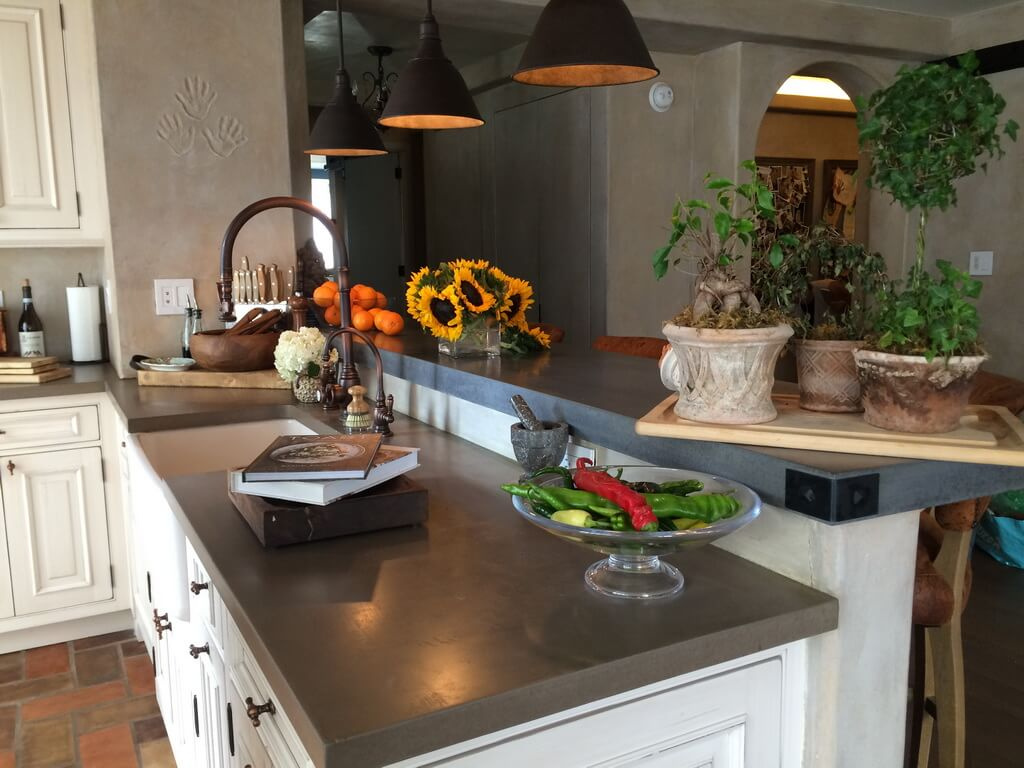Custom Gray Concrete Countertops