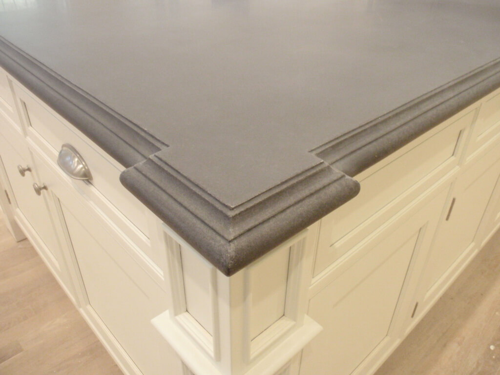 Concrete Kitchen Island with Ogee Edge