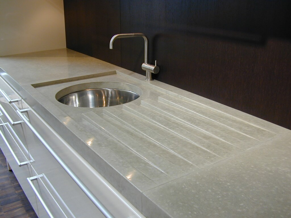 Gray Concrete Countertops