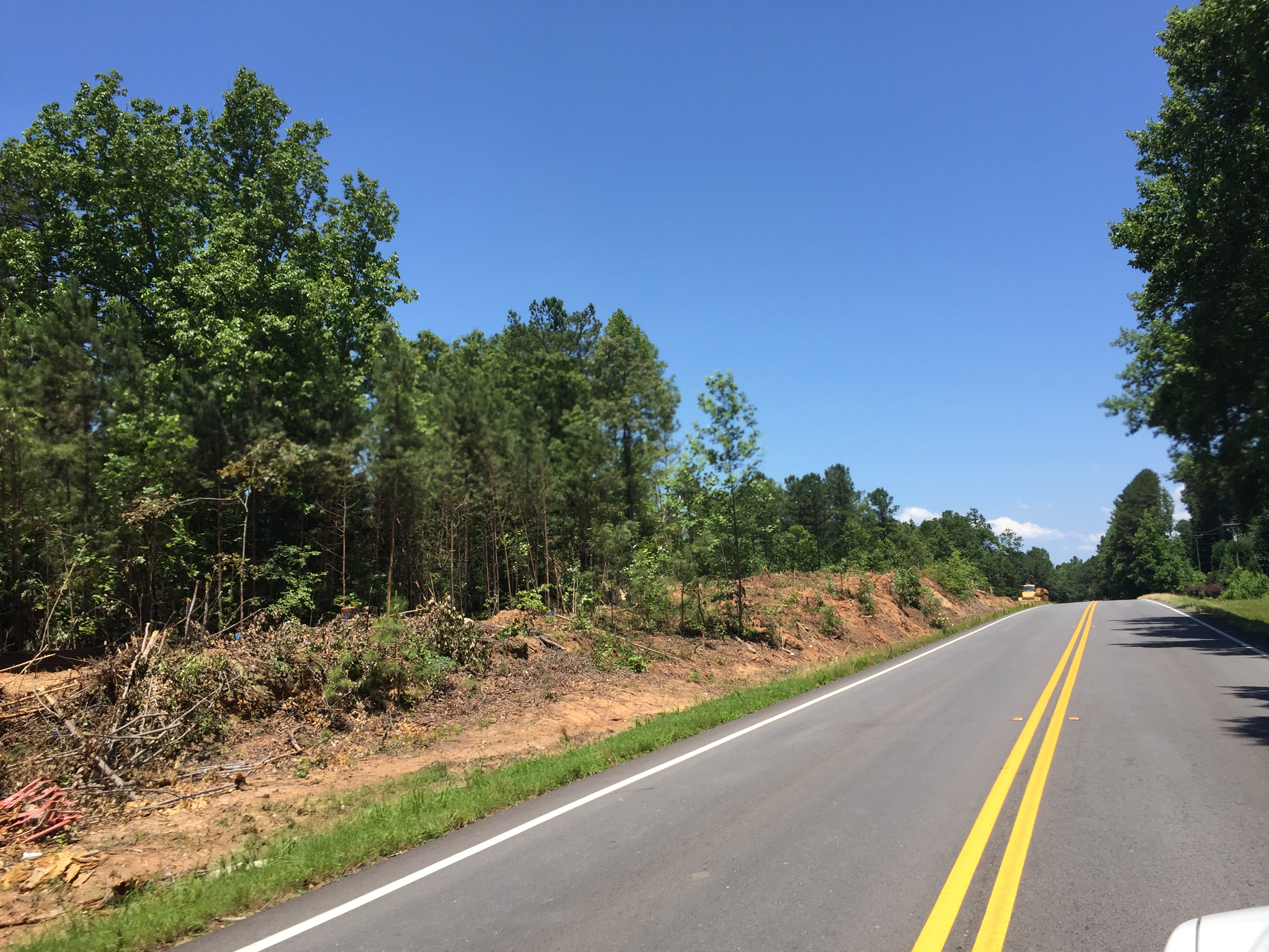 Clearing Along HWY 61 For Intersection Improvements
