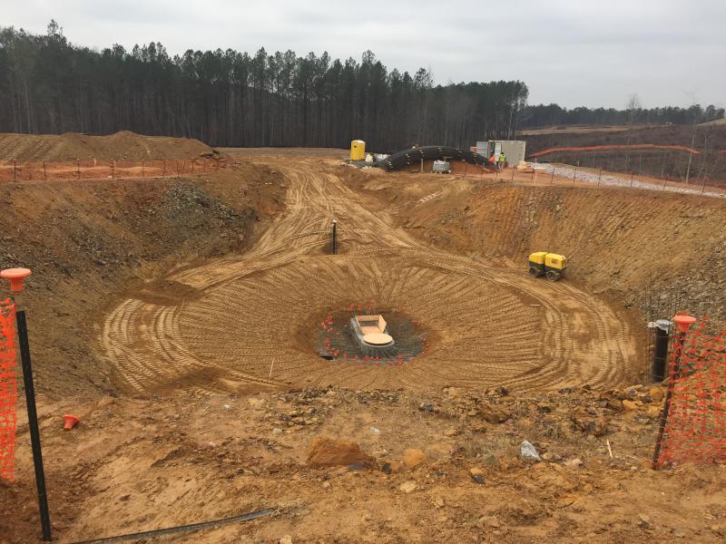 WTP Site - Gravity Thickener Foundation Work