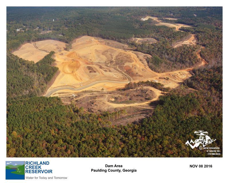 Aerial View of Dam Site