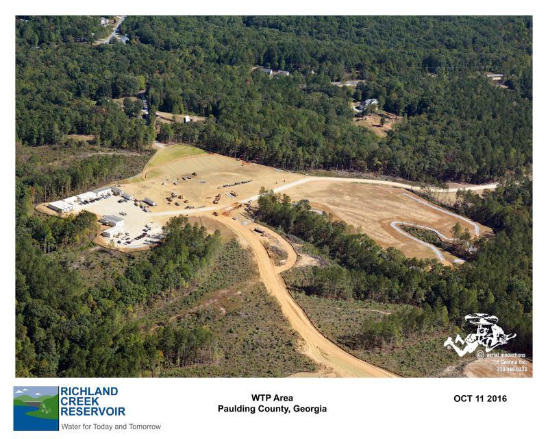 WTP Site - Aerial View of WTP Area