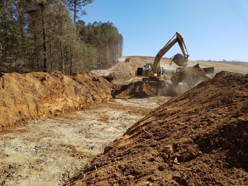 Dam Site - Diversion Channel Excavation