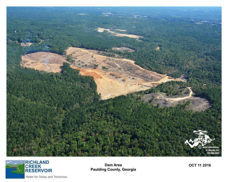 Dam Site - Aerial View of Dam Site