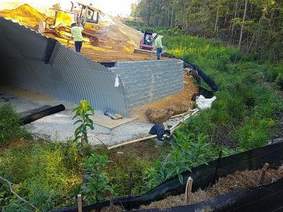 RCR - Entrance Road - Installation of Culvert at Stream Crossing