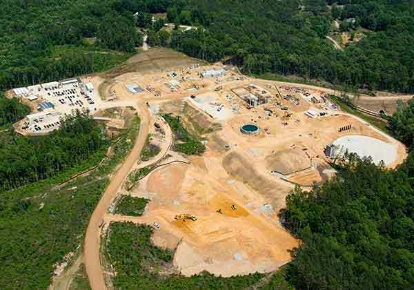 Aerial View of WTP Area