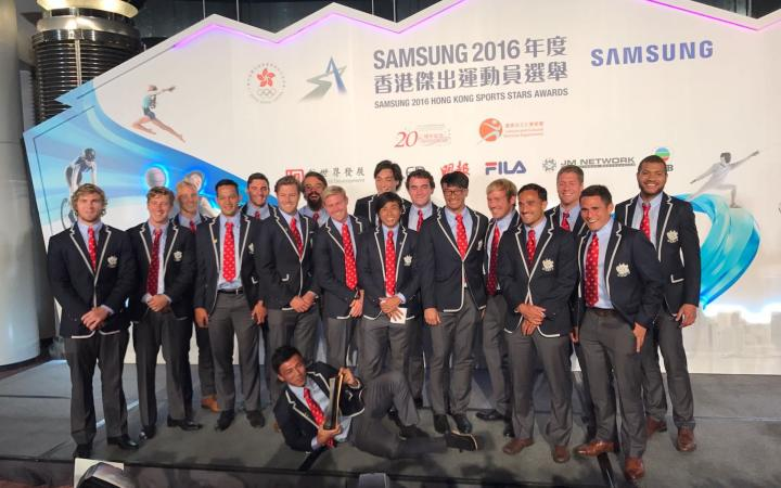 HKRU men's sevens team win 7th Samsung Hong Kong Sports Stars Team Award