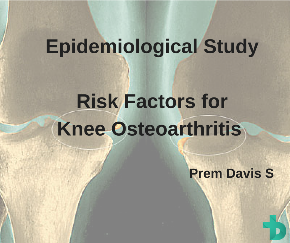 An epidemiological study on risk factors for knee osteoarthritis among clinically diagnosed patients.