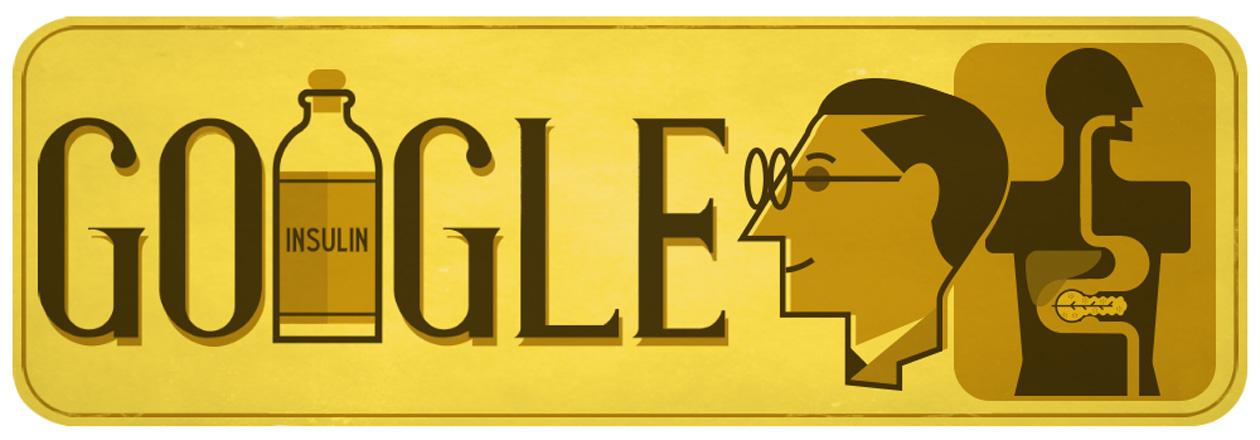 Google Doodle celebrates Sir Frederick Banting's 125th birthday