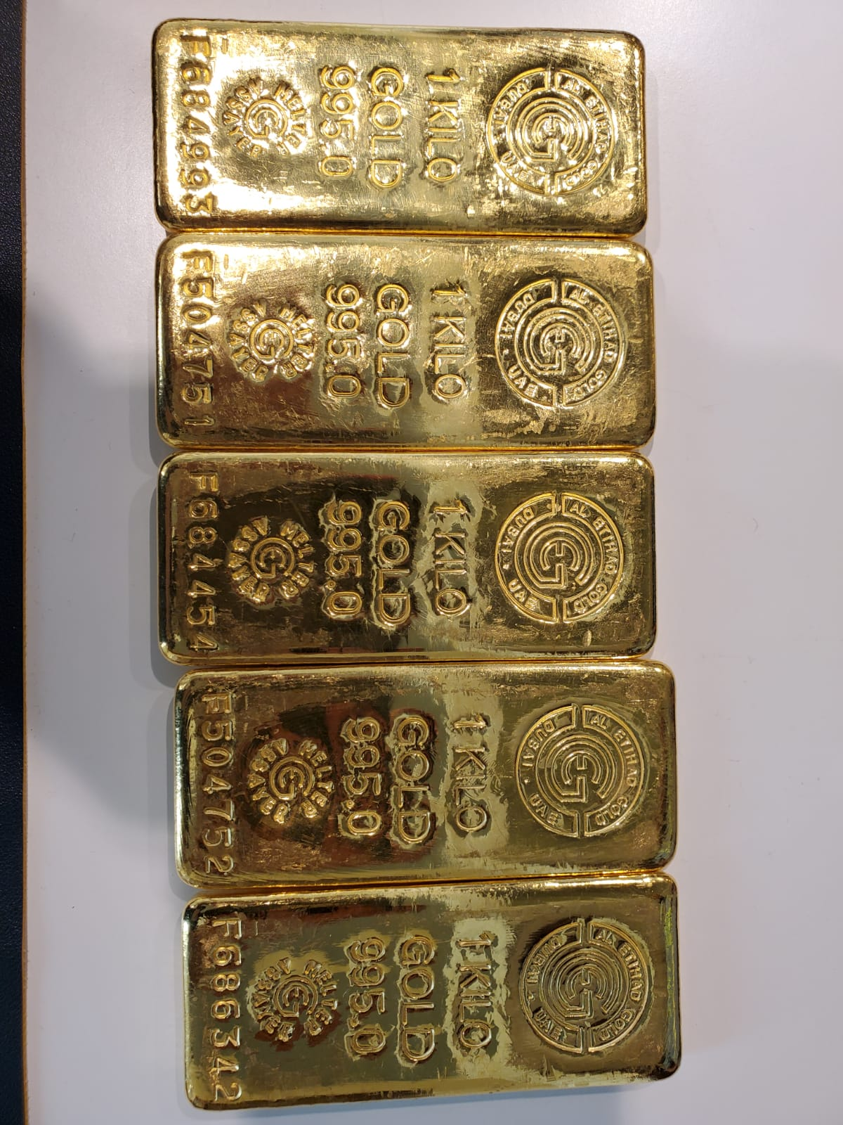 5kg gold Bars