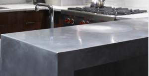 Walnut cabinets zinc bar (Zinc)