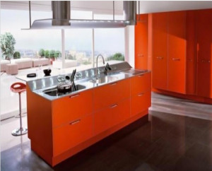 Kitchen cabinets red (LookBook – Architectural Leather – Conversation Pieces)