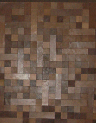 Leather floor tiny squares DIY