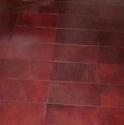 Leather floor rectangular